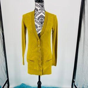 Halogen merino wool button up v-neck cardigan